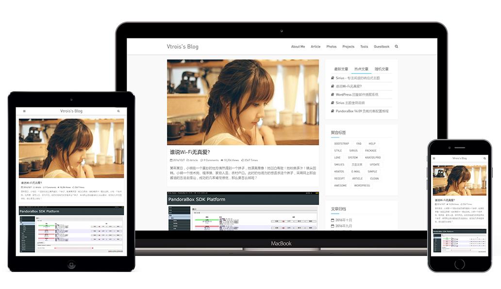 简约风格wordpress博客主题,响应式主题-Snape-wordpress模板,个人博客模板,免费网站模板 WordPress主题-第1张