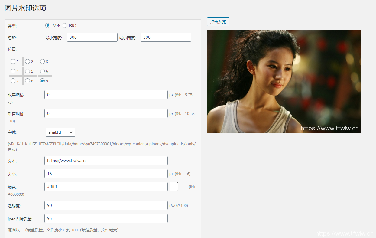 WordPress自动添加图片水印插件 - DX-Watermark 安装与设置 WordPress插件-第1张