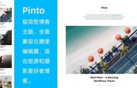 WordPress 极简博客主题 Pinto